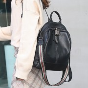 真皮包包女2020春季韓版時尚百搭大容量女士背包頭層牛皮學生書包