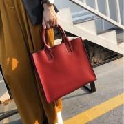 手提包女2020新款斜挎包氣質女神簡約時尚復古大氣真皮女包托特包