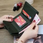多功能女士真皮小錢包2020夏天新款時尚潮短款女錢包牛皮折疊錢包