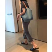 簡約大包女大容量單肩包2020新款時尚水桶包百搭軟皮女包潮