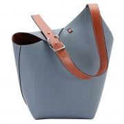 女包2020新款時尚真皮水桶包秋季大氣斜挎包百搭歐美ins單肩包女