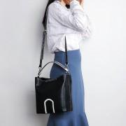 真皮女包2020新款單肩斜挎包大容量頭層皮簡約時尚水桶包女士