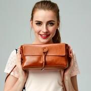新款女包時尚牛皮小方包女士單肩休閑包包手提包