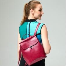 新款韓版時尚油蠟牛皮女包韓版風范背包雙肩包