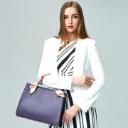 新款女包職場鉑金包手提包斜跨外貿箱包批發