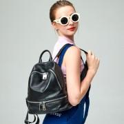 新款頭層牛皮雙肩包女包情侶包包背包書包