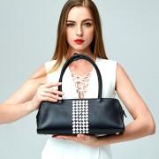 新款女包歐美時尚風頭層牛皮單肩手提包女士包爆款