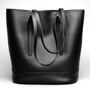 新款女包時尚牛皮水桶包女士單肩休閑包包手提包