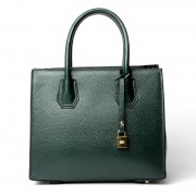 楊冪同款女包新款歐美時尚頭層牛皮墨綠色單肩包殺手包