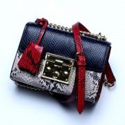 包包女新款蛇紋牛皮鏈條包時尚箱包斜挎包女包學生包