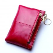 新款頭層牛皮短款女士錢包大容量錢包手拿包零錢包