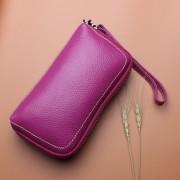 女式手拿手機包頭層牛皮化妝包新款歐美錢包長款錢包
