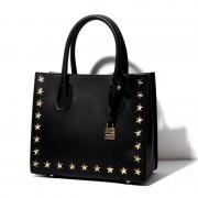 包包女鉚釘女包新款五角星星mercer手提單肩鎖頭包