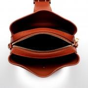 秋冬磨砂女包新款潮水桶頭層牛皮歐美時尚單肩斜挎手提包
