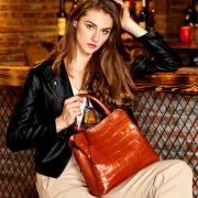 女包新品軟皮牛皮大容量女士手提單肩斜挎大包