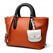 女包新款女士歐美拼色單肩手提女包時尚包包