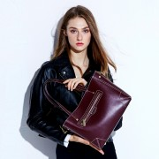 歐美大包新款時尚簡約女士單肩斜跨包女包大容量手提包