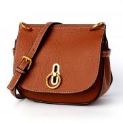 包包女新款女包單肩斜挎鎖扣包包馬鞍包多用潮流單肩包