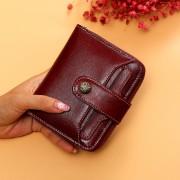 女士錢包時尚新款真皮二折女士錢夾短款可愛小零錢三折零錢包錢夾