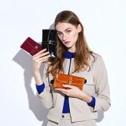 新款頭層牛皮長款女士錢包大容量錢包手拿包零錢包