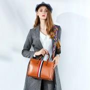 女包時尚簡約新款軟包單肩手提斜挎包牛皮托特包