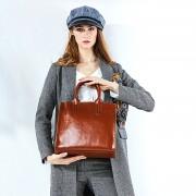 春夏新款女包潮歐美時尚大容量牛皮托特包手提包單肩