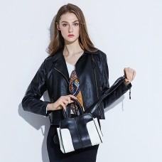 包包女新款 韓版女包撞色單肩包斜挎手提包大容量女包