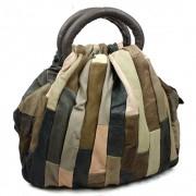 新款真皮拼接時尚品牌女包批發 復古手提單肩斜挎包包 女士