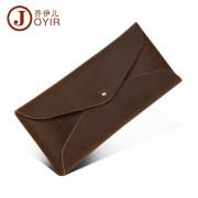 新款復古瘋馬皮零錢包 時尚簡單信封錢包 多功能手機包批發
