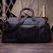 新款歐美復古時尚真皮男包行李包 頭層牛皮瘋馬皮手提斜挎大包