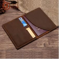 真皮卡夾 復古頭層牛皮瘋馬皮護照夾護照套 證件包批發