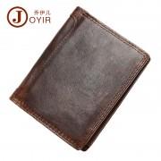 新款真皮男士錢包 防RFID功能短款復古商務錢包 多卡位銀包