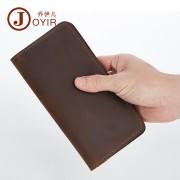 新款真皮男士錢包 瘋馬皮復古大容量長款錢包 時尚休閑手拿包錢夾