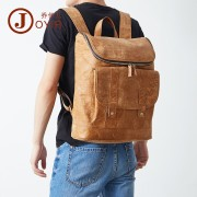 歐美真皮男士雙肩包 時尚休閑牛皮男包 旅行行李背包復古真皮書包
