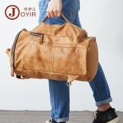 歐美時尚真皮男包  復古雙肩背包 頭層牛皮男士手提旅行包袋