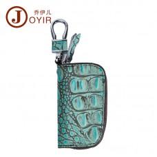 新款歐美時尚復古壓花真皮汽車鑰匙包 女士頭層牛皮女包批發