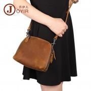 新款復古真皮女包韓版時尚女士單肩斜挎包頭層牛皮貝殼包女包包
