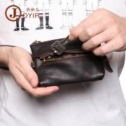 工廠直銷復古真皮汽車鑰匙包時尚休閑女士鑰匙包頭層牛皮零錢包