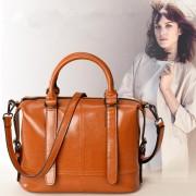 女士包包新款 簡約女包 時尚百搭真皮秋季女包復古油蠟牛皮