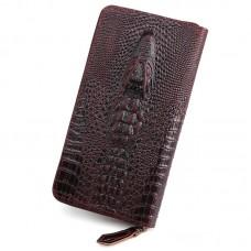 復古真皮男士錢包頭層牛皮鱷魚壓紋手拿包商務休閑手包男包批發