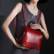 時尚包包女新款雙肩包 包包女 真皮 雙肩包 女式 時尚