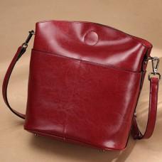 年時尚手袋 真皮水桶女包 女士包包 牛皮時尚單肩斜跨包