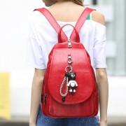 女包包新款 真皮便攜式多功能雙肩包 戶外背包女士時尚包