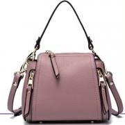 真皮包包簡約時尚 女包單肩斜挎包 手提包 旅行水桶包 秋季新款
