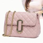 小香風菱格鏈條包新款韓版女單肩斜跨 真皮女包 時尚牛皮女士包包
