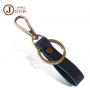 新款創意禮品真皮鑰匙扣 男士個性復古頭層牛皮汽車鑰匙扣批發