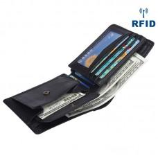 廠家直銷新款真皮男士錢包 RFID防磁短款商務錢包 頭層牛皮男包