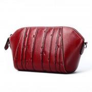 新款包包女 民族風 牛皮單肩斜挎包 女士真皮包