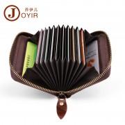 rfid卡包卡套 復古時尚真皮錢包零錢包 牛皮多卡位風琴包卡夾批發