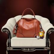 韓版女式小手提包 荔枝紋 真皮手提包牛皮通勤女士單肩斜跨包包